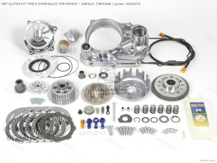 DRY CLUTCH KIT TYPE-R (HYDRAULIC) FOR MONKEY / GORILLA  (TAKEGAW