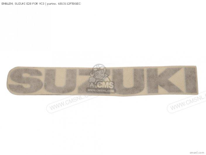 EMBLEM, SUZUKI E28 FOR YC3