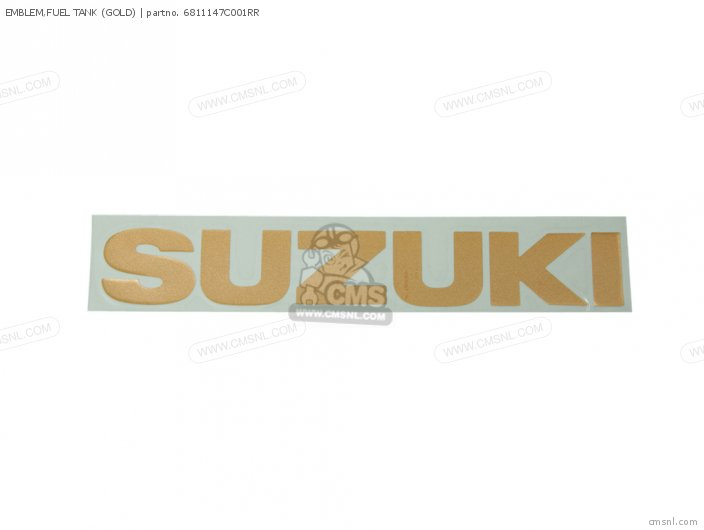 Emblem, Fuel Tank (gold) photo