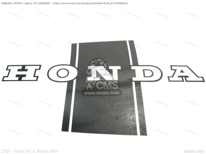 Embleml Front For St70 Dax England Order At Cmsnl Honda Electrical Wiring Diagram Emblem L Photo