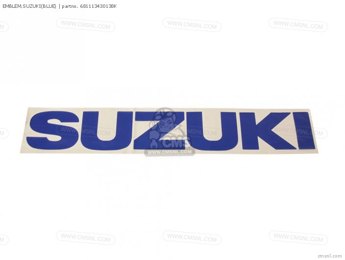 Emblem, Suzuki(blue) photo