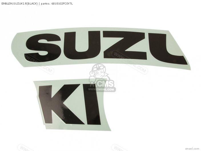 Emblem, Suzuki, R(black) photo