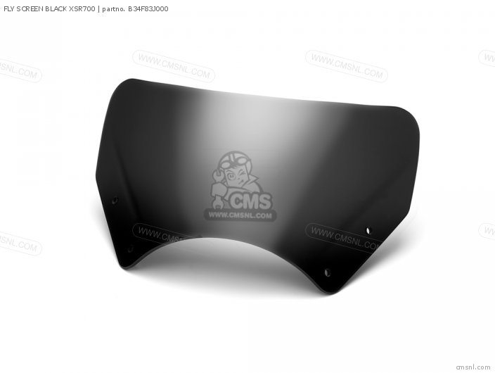FLY SCREEN BLACK XSR700