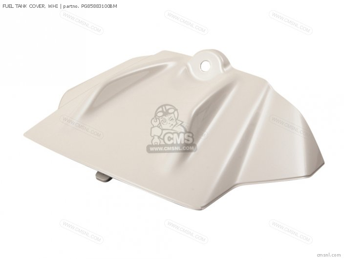 FUEL TANK COVER, WHI