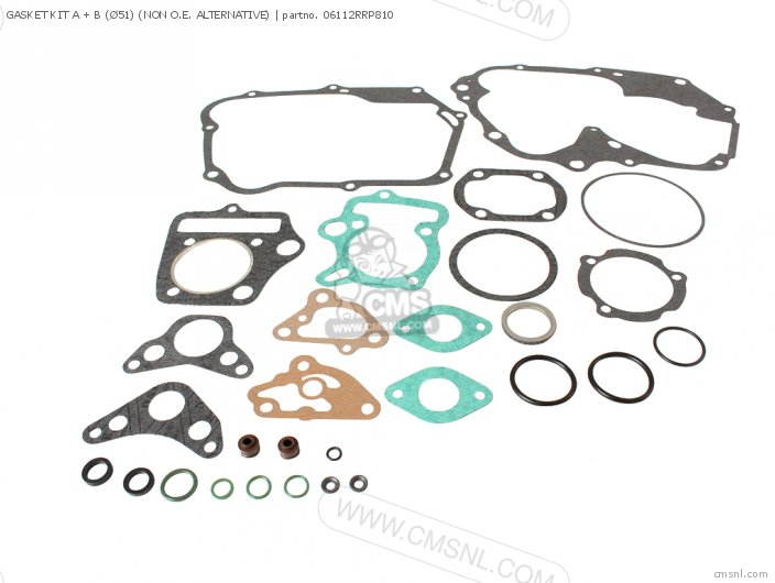 GASKET KIT A + B Ø51 NON O E  ALTERNATIVE