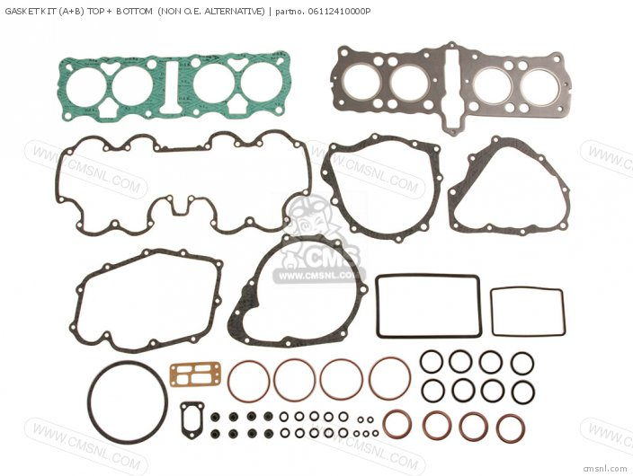 GASKET KIT (A+B) TOP + BOTTOM  (NON O.E. ALTERNATIVE)
