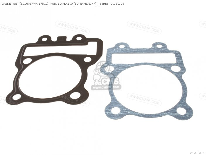 GASKET SET SCUT 67MM 178CC KSR110 KLX110 SUPERHEAD+R