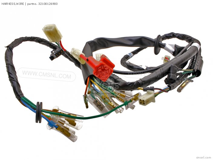 No Red Wire On Wiring Harness : Bag eh sport red honda