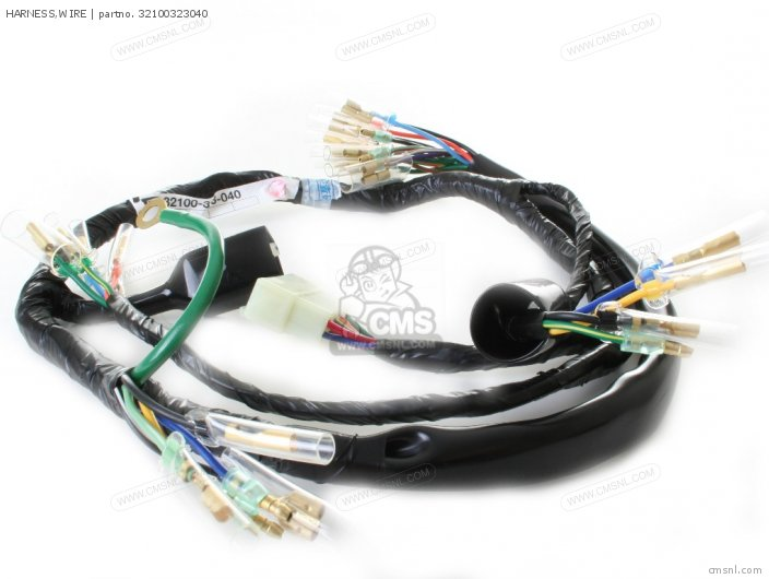 harness wire_medium32100323040 01_57a6 honda cb500k1 four general export wire harness schematic partsfiche cb550 wiring harness at sewacar.co
