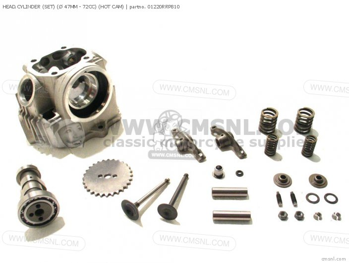 HEAD CYLINDER SET Ø 47MM - 72CC HOT CAM