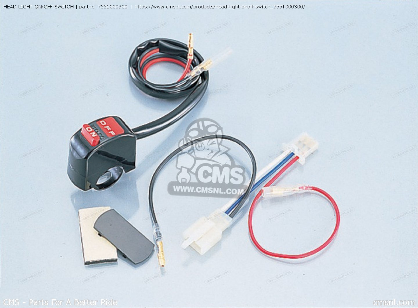 7551000300: Head Light On/off Switch Kitaco - buy the 755-1000300 at ...
