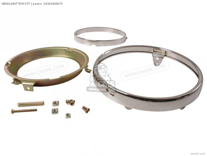 Gl1000 Goldwing 1978 Usa Headlight Rim Kit