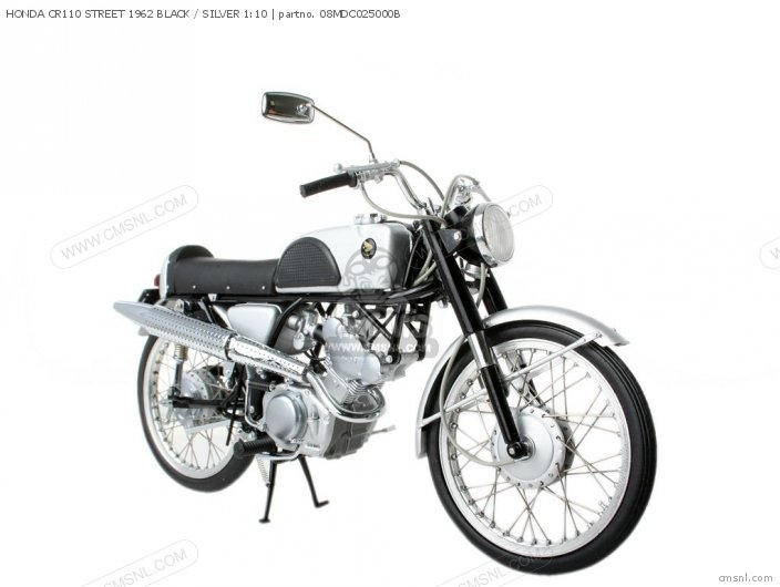 Scale Models Honda Cr110 Street 1962 Black   Silver 1 10