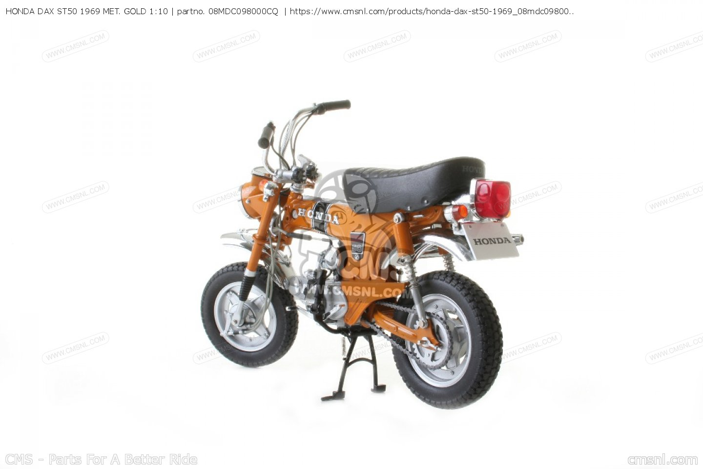 honda dax st50 1969 met gold 1 10 scale models 08mdc098000cq. Black Bedroom Furniture Sets. Home Design Ideas