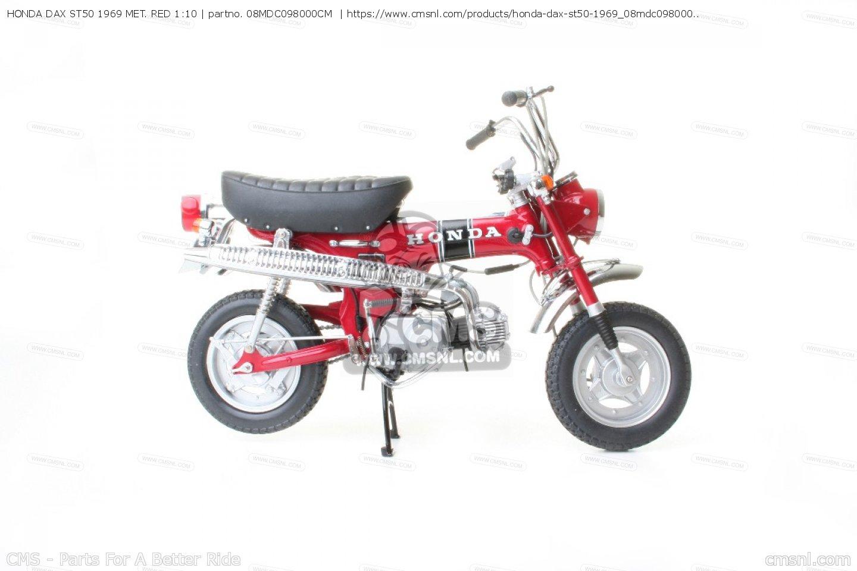 08mdc098000cm honda dax st50 1969 met red 1 10 honda. Black Bedroom Furniture Sets. Home Design Ideas