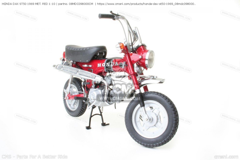 honda dax st50 1969 met red 1 10 scale models 08mdc098000cm. Black Bedroom Furniture Sets. Home Design Ideas