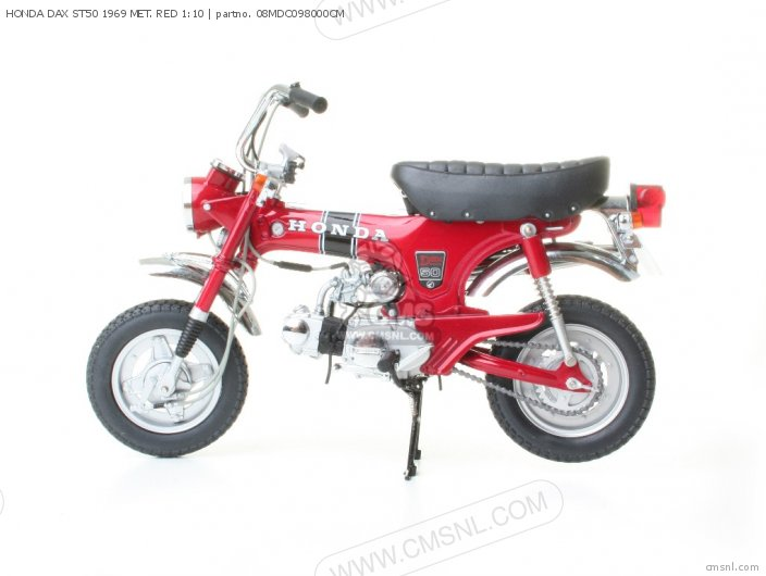 Scale Models Honda Dax St50 1969 Met  Red 1 10