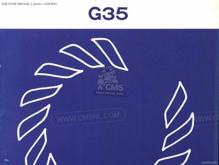 click for Full Info on this G35 SHOP MANUAL