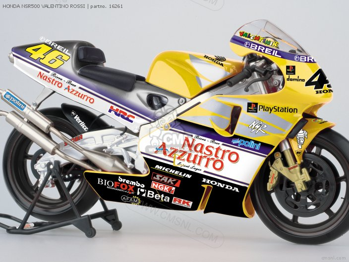HONDA NSR500 #46 Valentino Rossi Diecast Motorcycle Model scale die cast