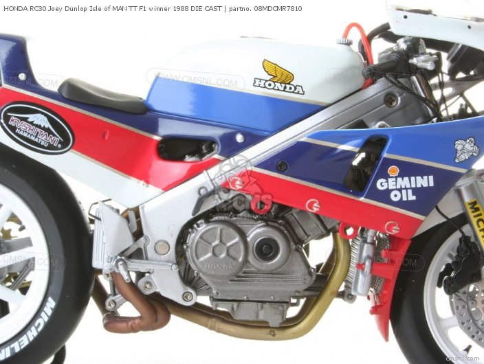 HONDA RC30 Joey Dunlop Isle of MAN TT F1 winner 1988 DIE CAST