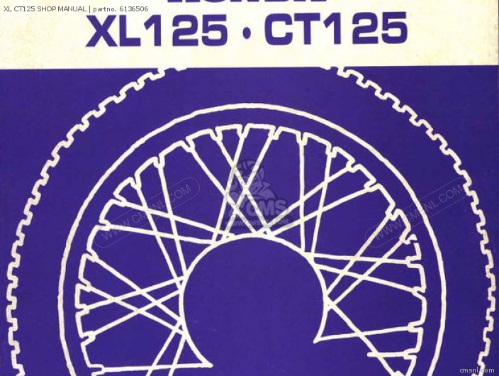click for Full Info on this XL CT125 SHOP MANUAL