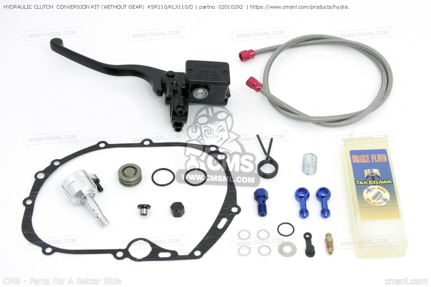 HYDRAULIC CLUTCH CONVERSION KIT (WITHOUT GEAR) KSR110/KLX110/D