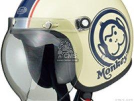 JM1A MONKEY HELMET IVORY-BLUE SIZE LARGE