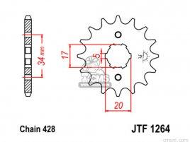 JT FRONT SPROCKET 1264.15