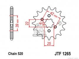JT FRONT SPROCKET 1265.13