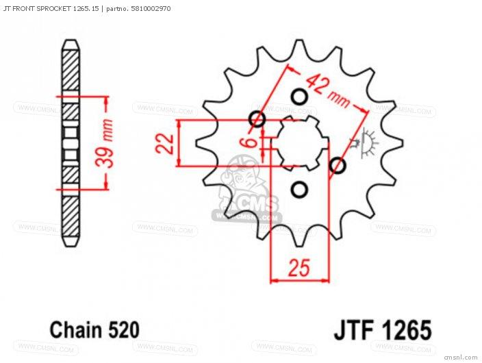 JT FRONT SPROCKET 1265.15