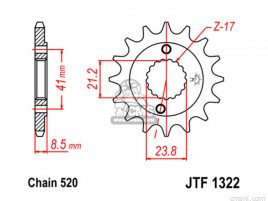 JT FRONT SPROCKET 1322.13