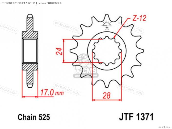 Jt Front Sprocket 1371.14 photo