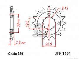 JT FRONT SPROCKET 1401.13