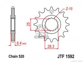 JT FRONT SPROCKET 1592.15