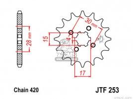 JT FRONT SPROCKET 253.14