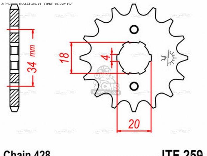 JT FRONT SPROCKET 259.14