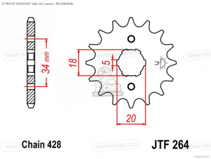 JT FRONT SPROCKET 264.16