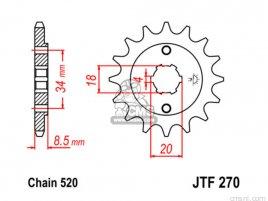JT FRONT SPROCKET 270.13