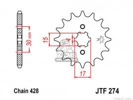 JT FRONT SPROCKET 274.14