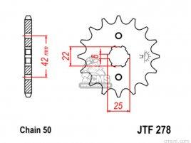 JT FRONT SPROCKET 278.18