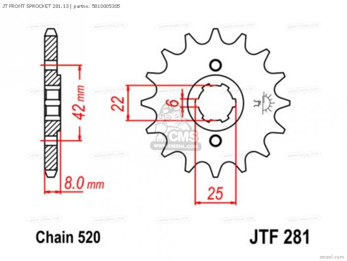 JT FRONT SPROCKET 281.13