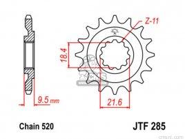 JT FRONT SPROCKET 285.15