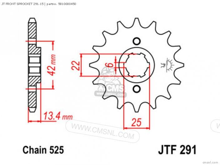 JT FRONT SPROCKET 291.15