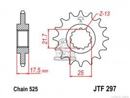 JT FRONT SPROCKET 297.16