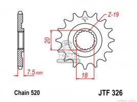 JT FRONT SPROCKET 326.12