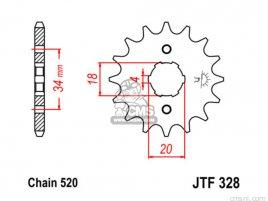 JT FRONT SPROCKET 328.12