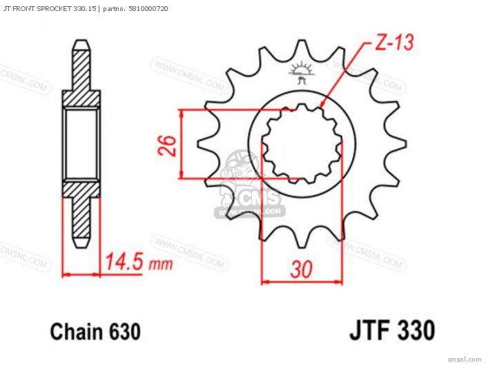 JT FRONT SPROCKET 330.15