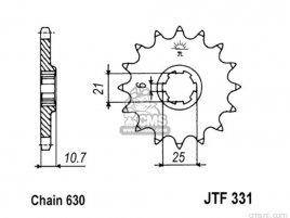 JT FRONT SPROCKET 331.14
