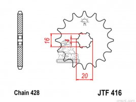 JT FRONT SPROCKET 416.13