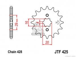 JT FRONT SPROCKET 425.14